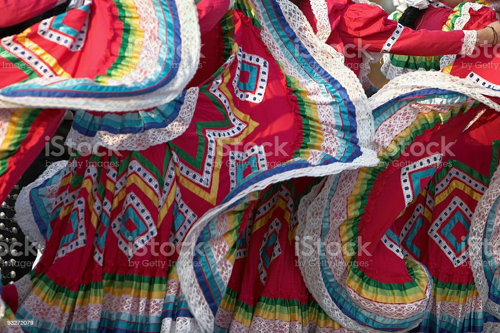 Ethnic Mexican Dresses stock photo
