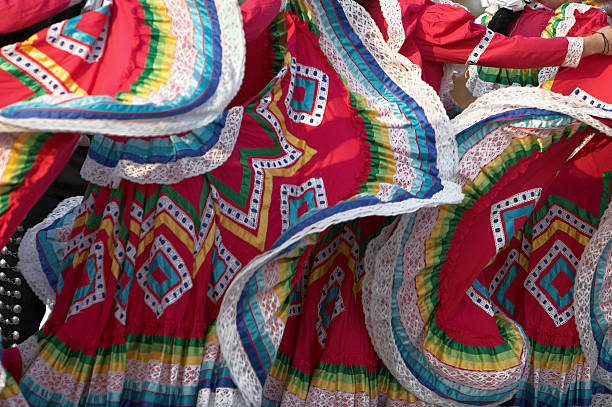 Ethnic Mexican Dresses  mexican culture stock pictures, royalty-free photos & images