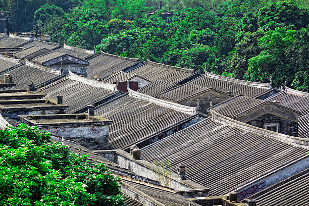 Ethnic minority village in Guangxi province,China stock photo
