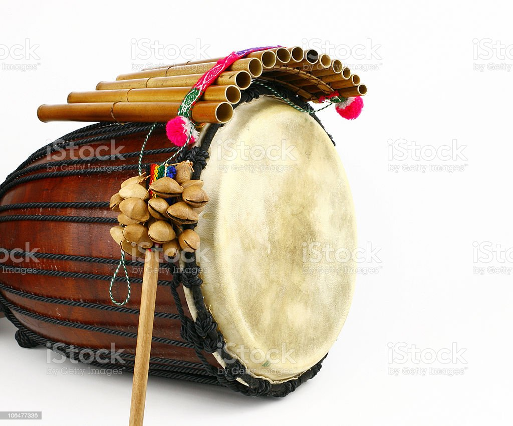 Ethnic music instruments royalty-free stock photo