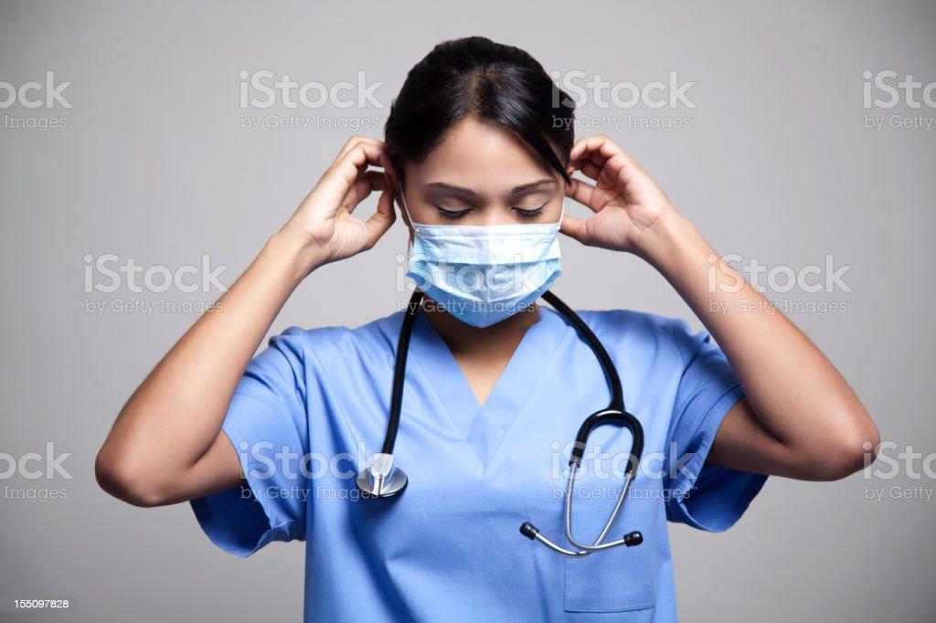Ethnic nurse royalty-free stock photo