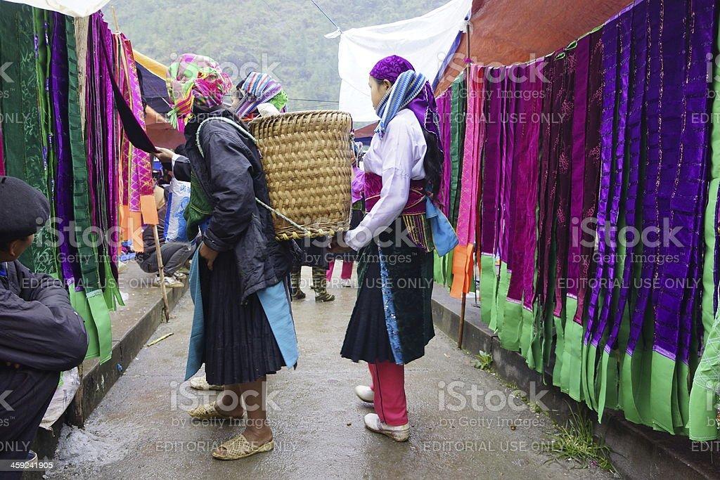 ethnic people market stock photo