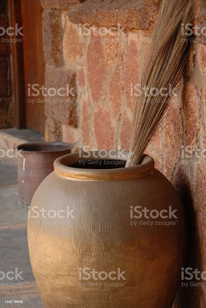 ethnic pottery royalty-free stock photo
