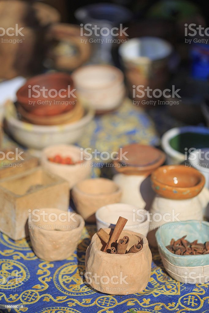 Ethnic spices royalty-free stock photo