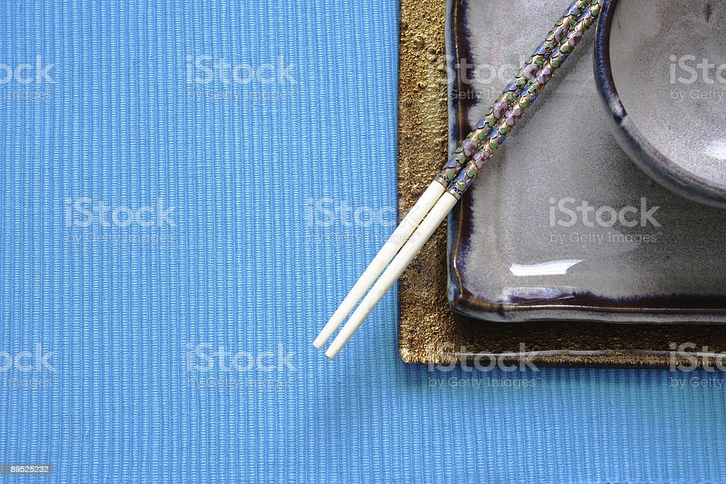 ethnic table setting royalty-free stock photo