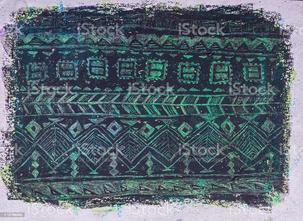 Ethnic tribal ornamental hand drawn pattern stock photo