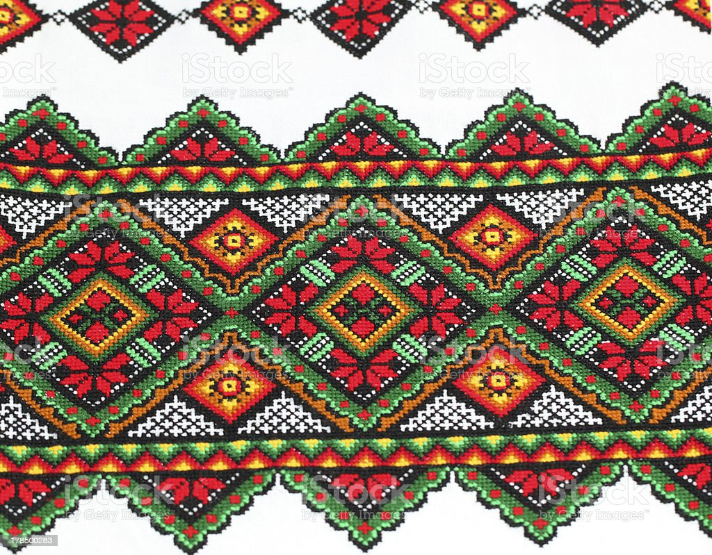 Ethnic Ukrainian Embroidery royalty-free stock photo