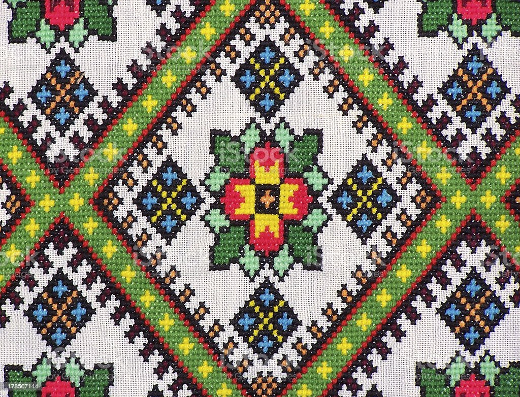 Ethnic Ukrainian Embroidery stock photo