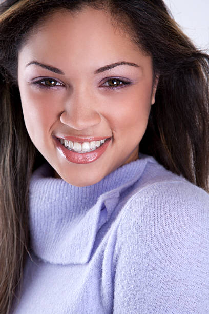 ethnic woman with a beautiful smile stock photo