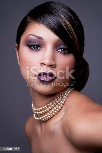 istock Ethnic woman with updo 108351957