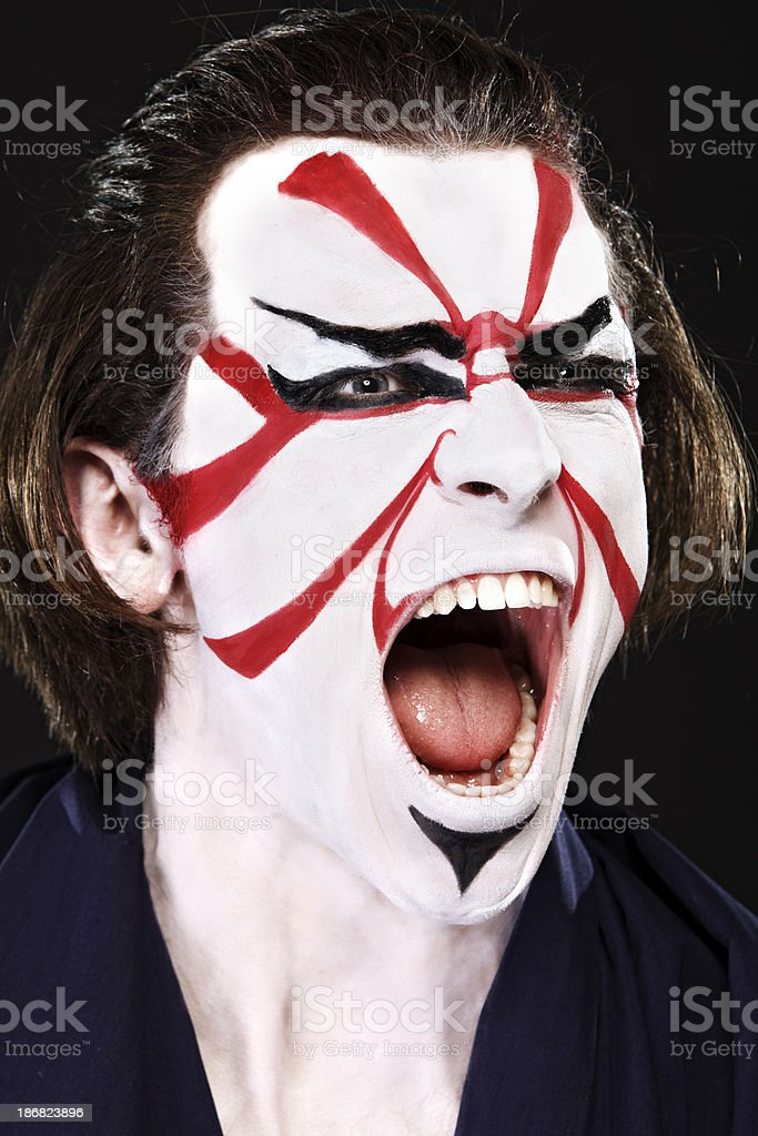 Ethnicities Shoot - Asian Kabuki stock photo