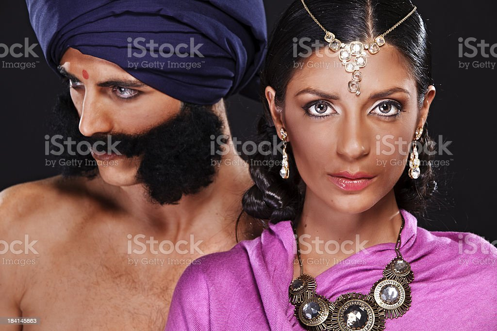 \'A caucasian man and woman made up as an IndianNote: In this shoot...