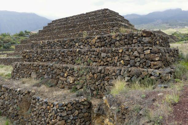 Ethnographic park Piramides de Guimar stock photo