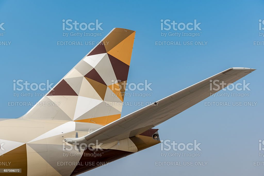 Etihad Boeing 777 stock photo