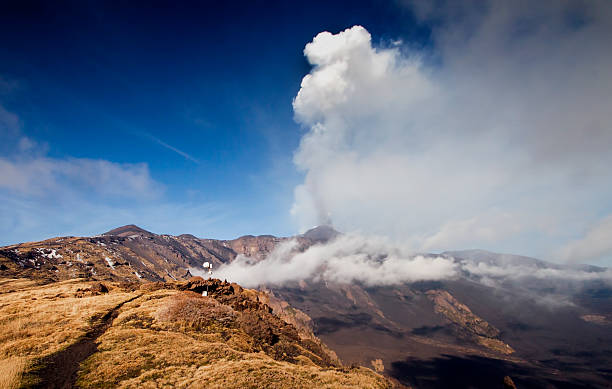 Etna activity stock photo