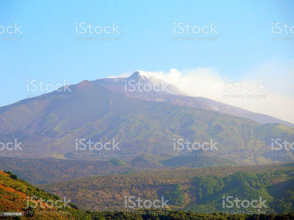 Etna volcano smokes. royalty-free stock photo