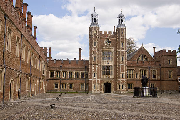 Eton College Quadrangle stock photo