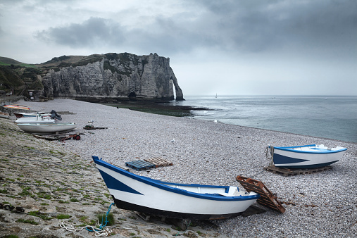 Etretat cliff in Normandy, France