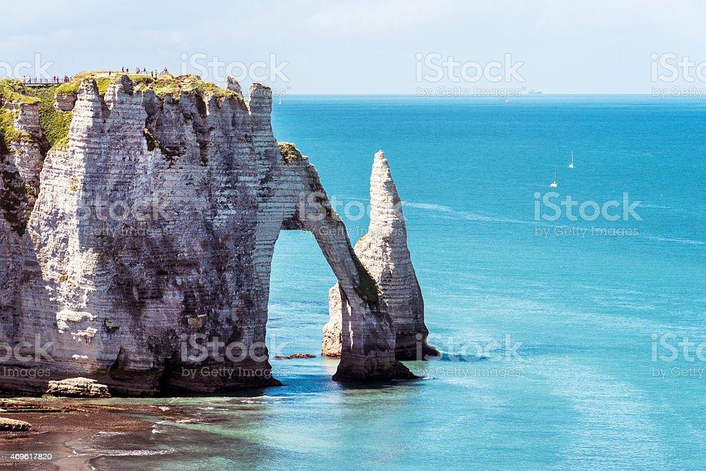 Etretat, Normandia, Francia stock photo