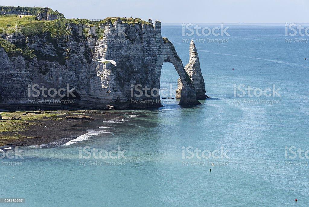Etretat, Normandia stock photo