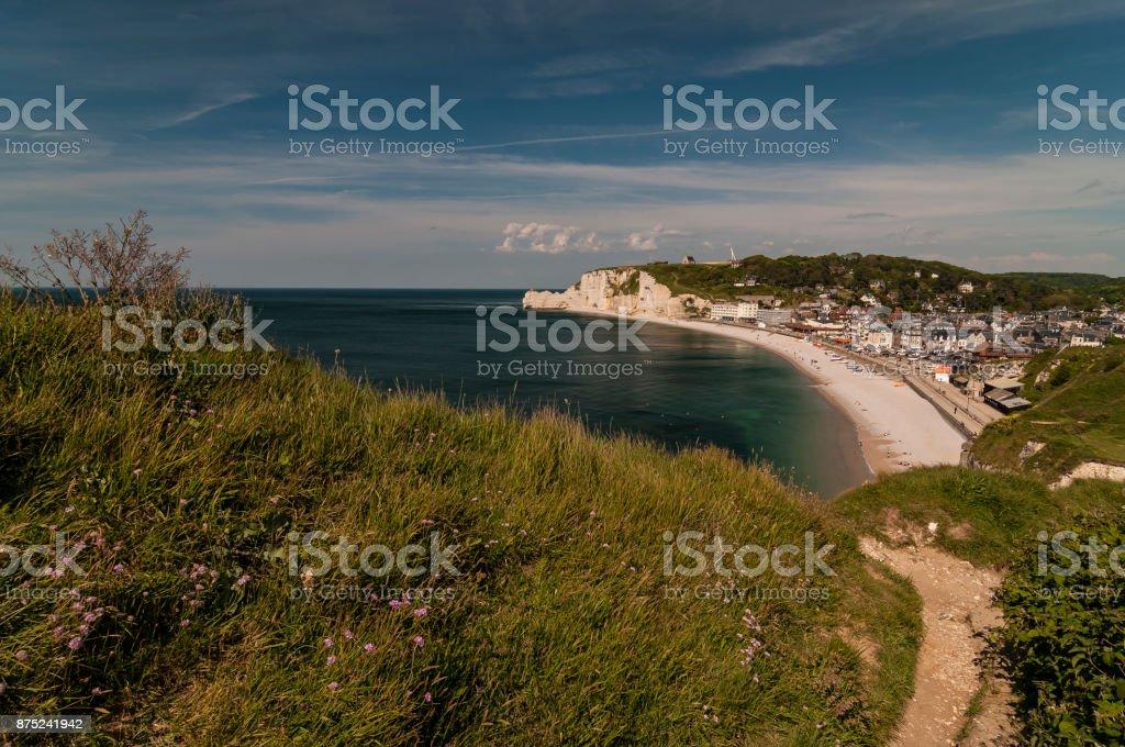 Etretat (Etretat), Normandie, Frankreich – Foto