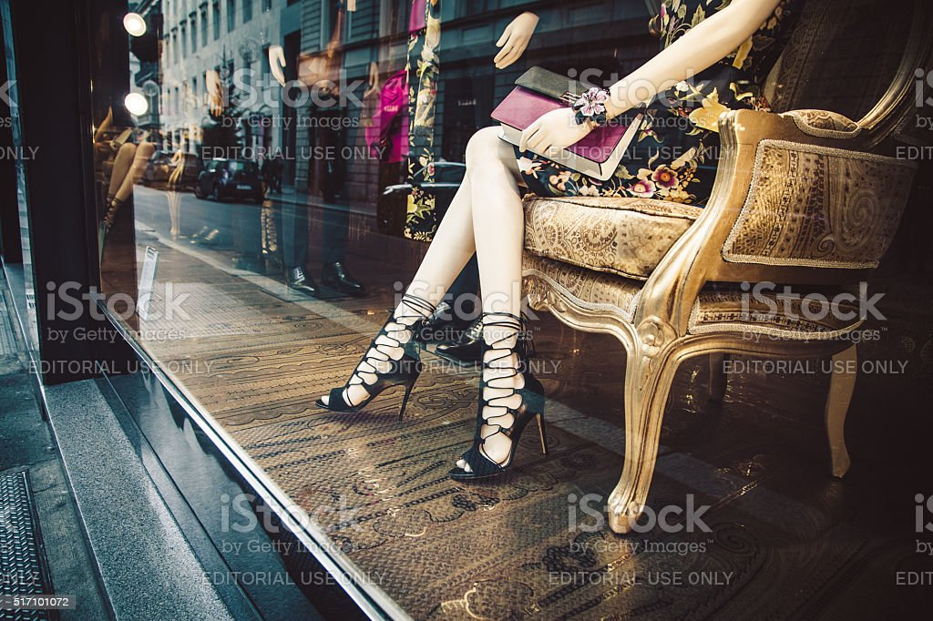 Etro shop in Via Monte Napoleone, Milan stock photo