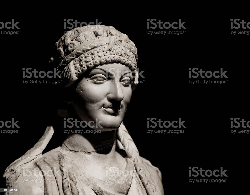 Etruscan sculpture. stock photo