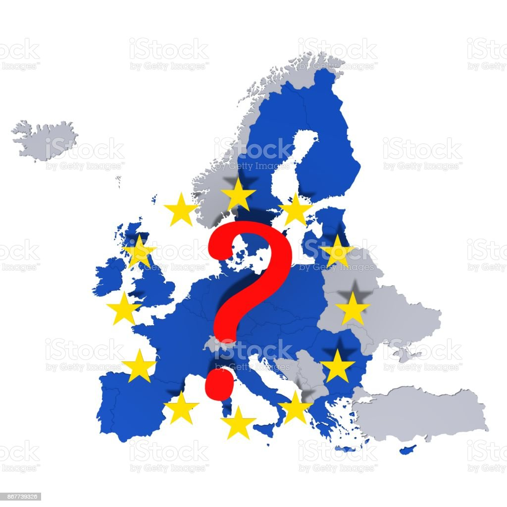 Eu european union europe georaphically map european countries eu european union europe georaphically map european countries template graphic illustration silhouette 3d rendering isolated on gumiabroncs Choice Image