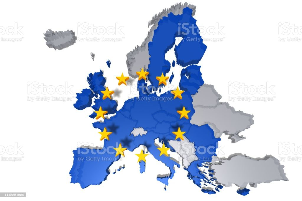 Picture of: Eu Map European Union Europe Eurozone Political 3d Rendering Graphic Isolated On White Background In High Resolution Stock Photo Download Image Now Istock