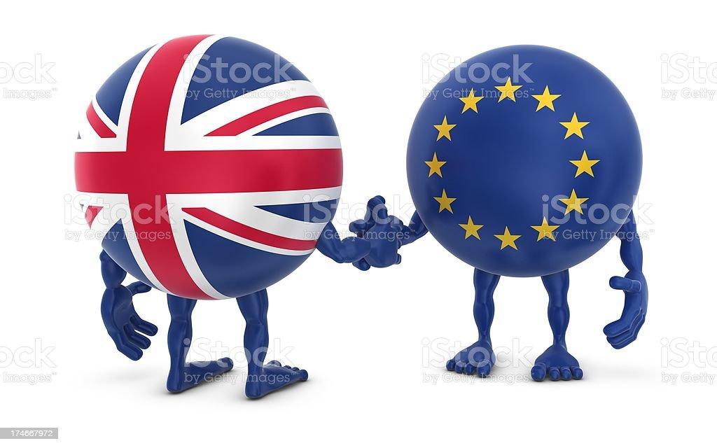 eu - uk handshake royalty-free stock photo