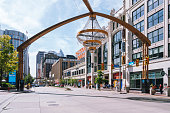 istock Euclid avenue with outdoor chandelier in Cleveland, Ohio 1252340586