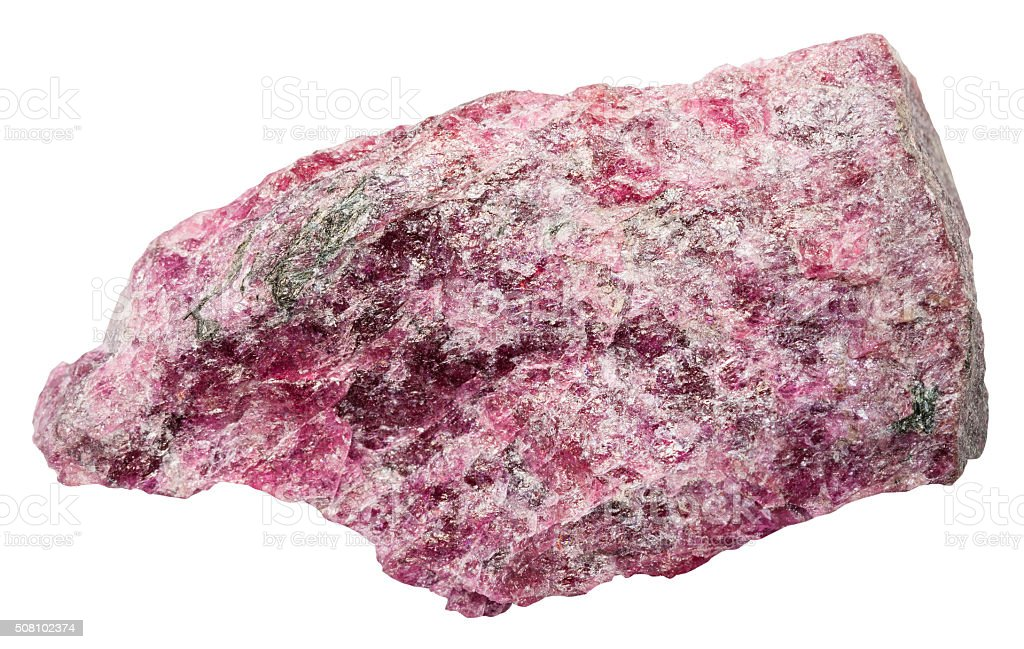 eudialyte mineral stone isolated on white stock photo