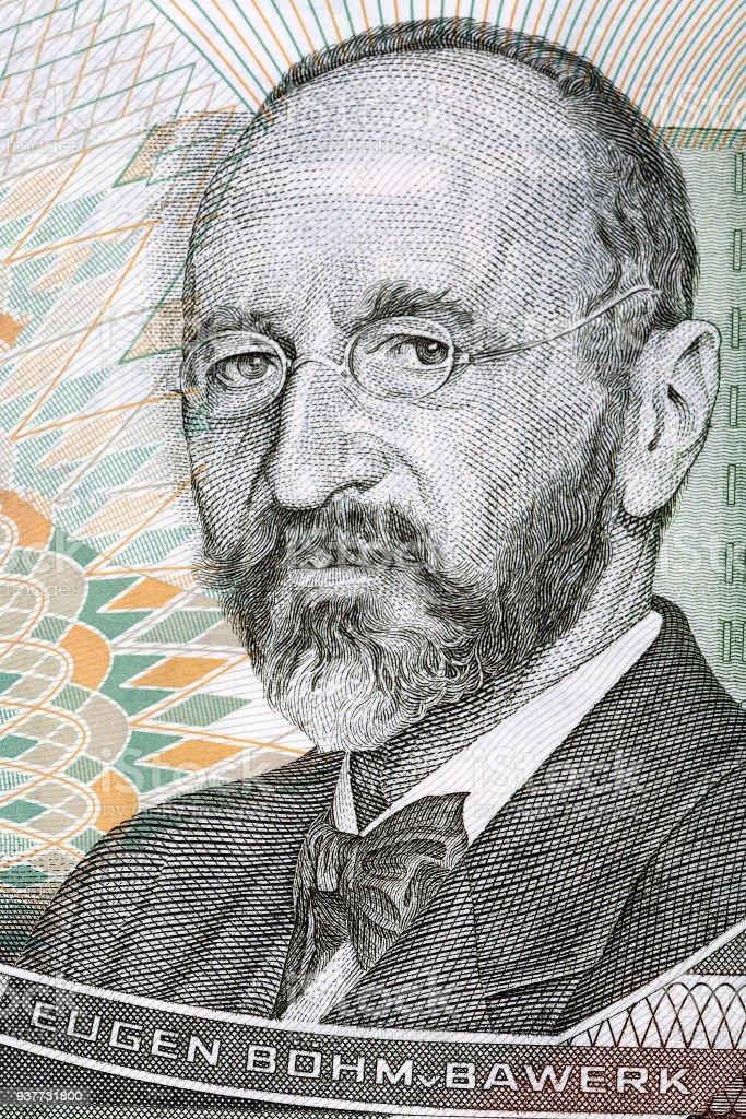 Eugen von Bohm-Bawerk portrait stock photo