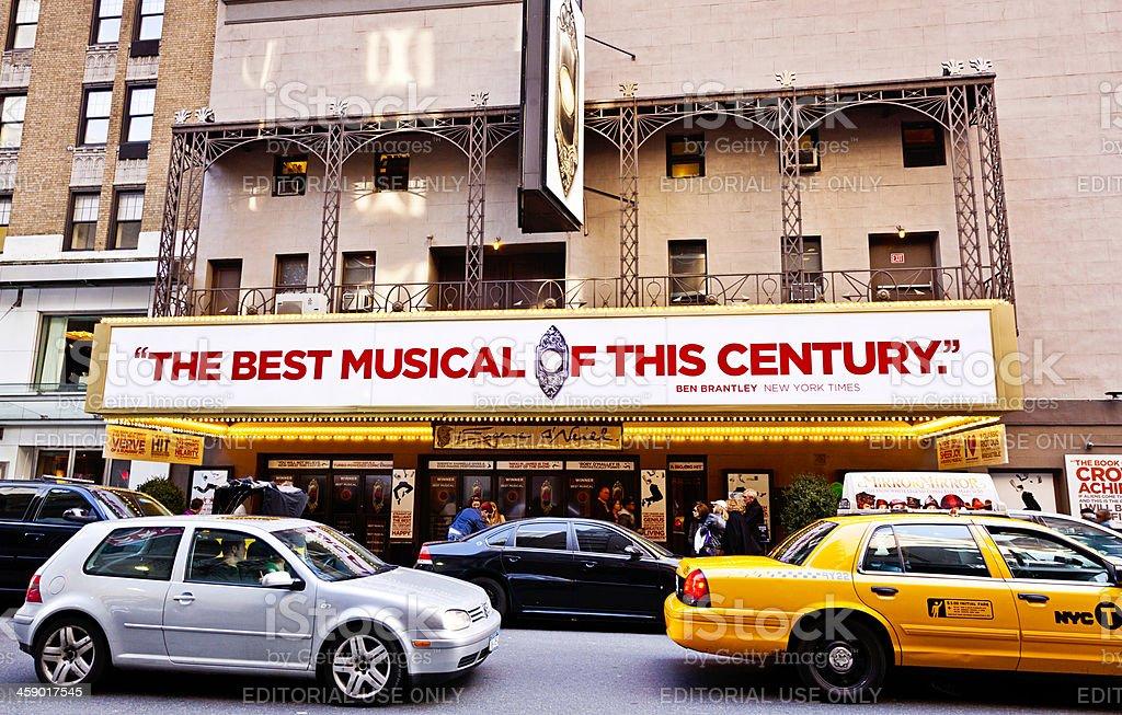 Eugene O'Neill Theatre, New York City stock photo