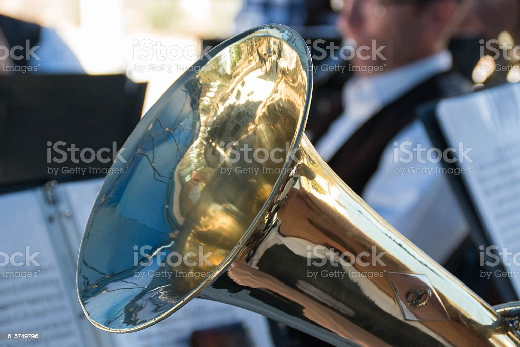 Euphonium and Band stock photo
