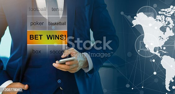 843298172 istock photo Euphoric happy businessman wear suit celebrate mobile win, 1205778383