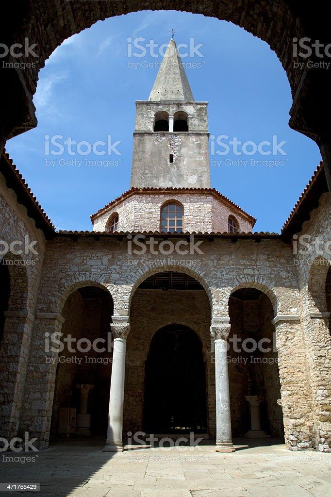 Euphrasian Basilica in Porec royalty-free stock photo