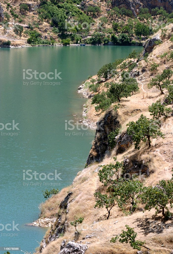 euphrates river stock photo
