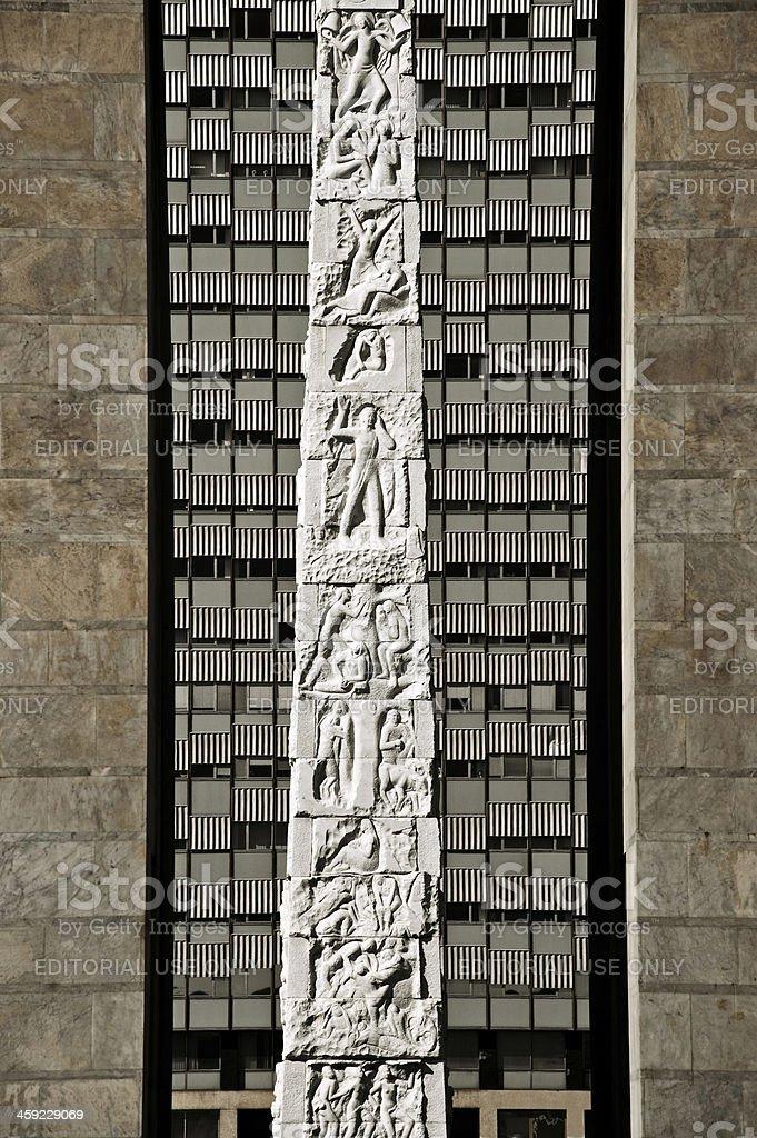 Eur obelisk stock photo