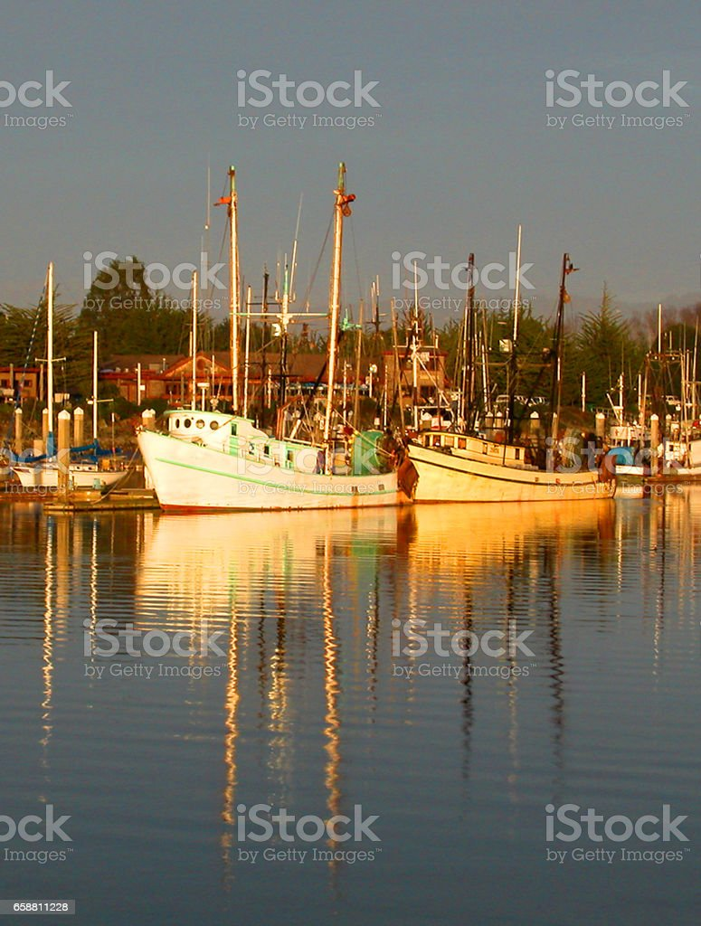 Eureka marina stock photo