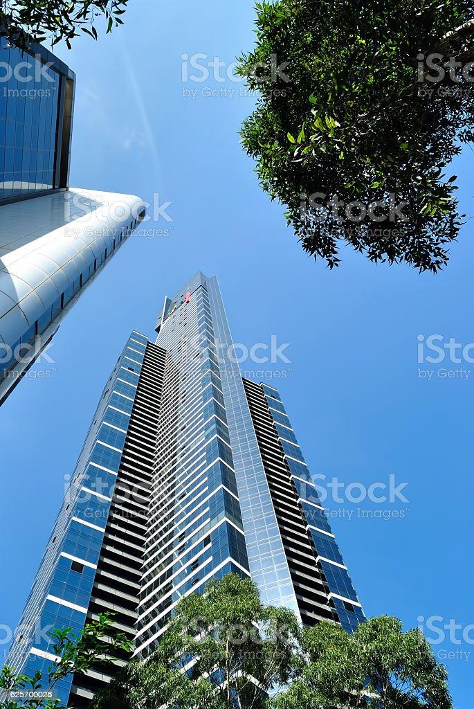 Eureka Tower in City of Melbourne Australia stock photo