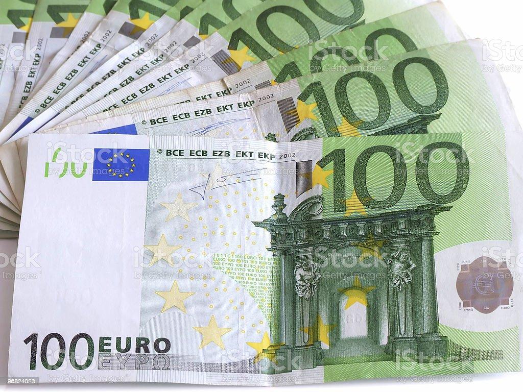Euro 100 bills royalty-free stock photo