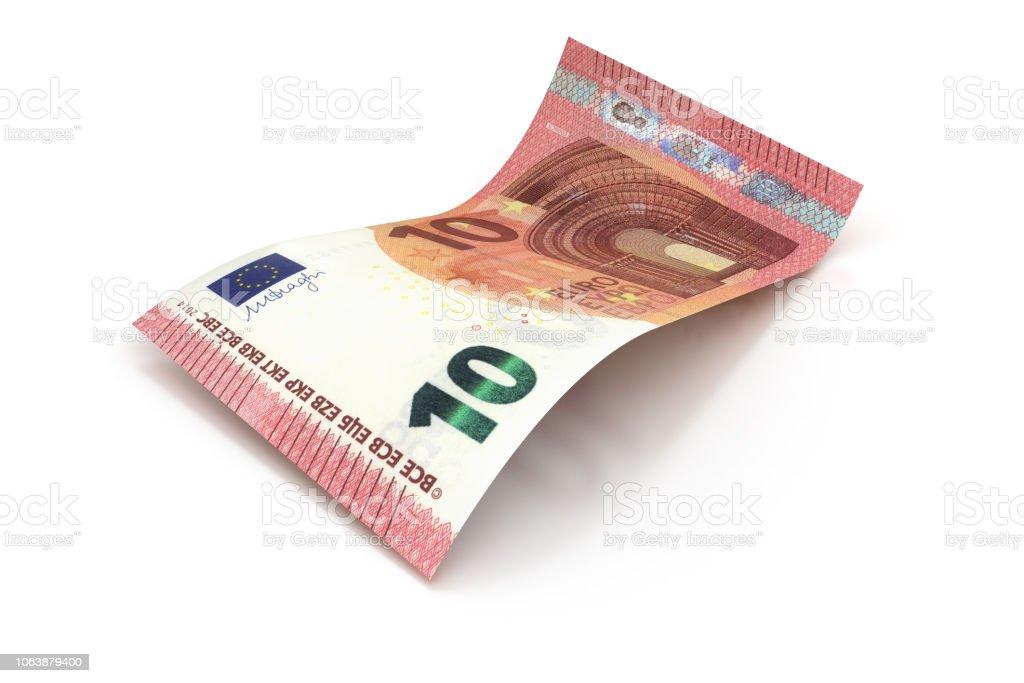 10 Euro - 3d Visualisierung einer Euro-Banknote – Foto
