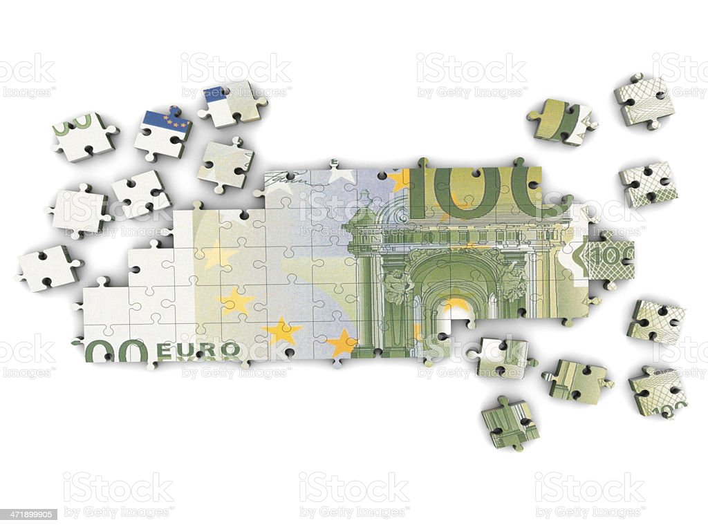Euro and Puzzle royalty-free stock photo