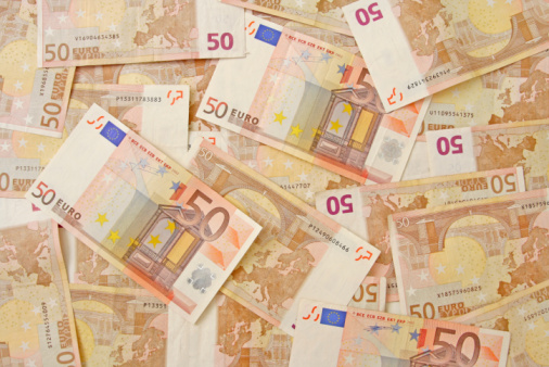 Euro Background Stock Photo - Download Image Now