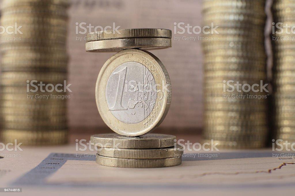 Euro balance royalty-free stock photo