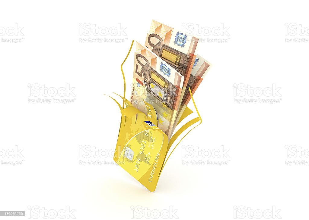Euro bank cards royalty-free stock photo