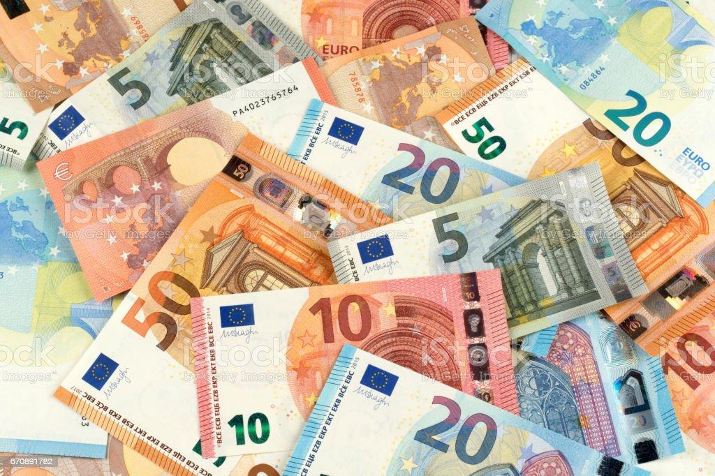 Euro-Banknote-Währungsfinanzierungshintergrund - Lizenzfrei Bankgeschäft Stock-Foto