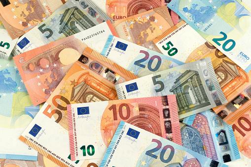 Eurobanknotewährungsfinanzierungshintergrund Stockfoto und mehr Bilder von Bankgeschäft