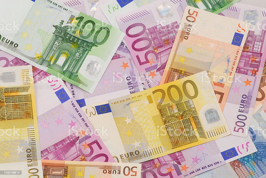 Euro billetes de banco de - foto de stock